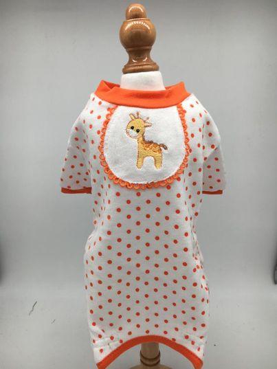 Giraffa Pigiama Arancione