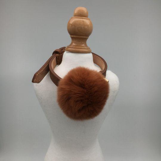 Collare Fluffy Cognac